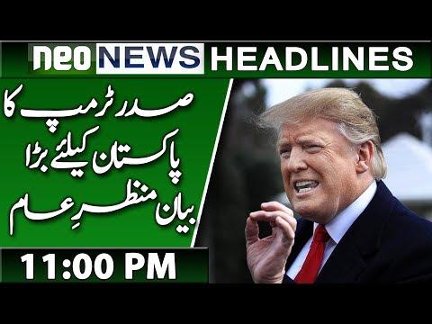Donald Trump Big News For Pakistan   Neo News Headlines   11:00 PM   21 March 2019
