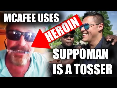 John Mcafee SHOOTS HEROIN! Suppoman MEMES! Bitcoin & Cryptocurrency news and analysis