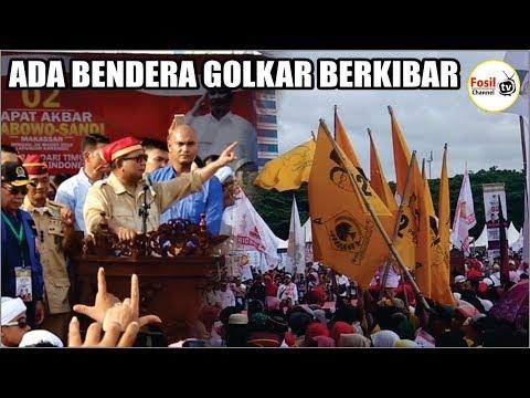 Hebo!! Ada Bendera Partai Golkar Berkibar Saat Kampanye Akbar Prabowo-Sandi Di Makassar