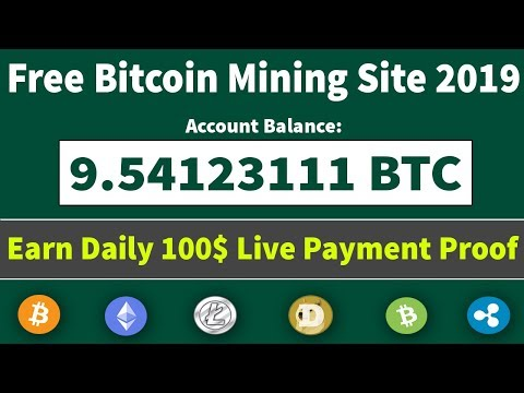 Earn Free Bitcoin New Free Mining Site 2019 | Earn Daily 100$ Live Withdrawal Payment Proof
