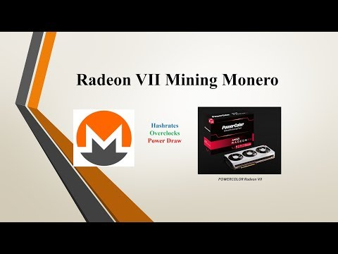 Radeon VII – Mining Monero (Hashrates, Overclocks, Power Draw)