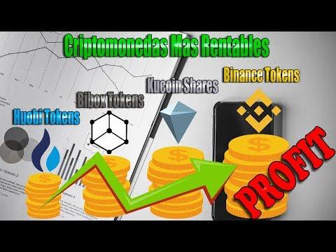 Criptomonedas Mas Rentables: Kucoin Shares, Binance Coin, Huobi Tokens, Bibox Tokens
