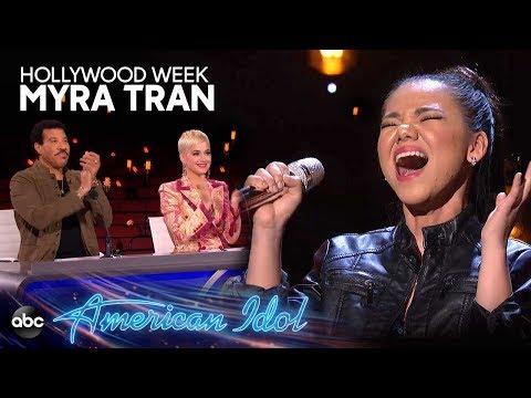 "Myra Tran Sings ""Chandelier"" by Sia at Hollywood Week – American Idol 2019 on ABC"
