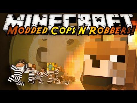 Minecraft Mini-Game : MODDED COPS N ROBBERS! DOGE!