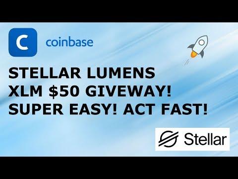 STELLAR LUMENS XLM $50 GIVEWAY! SUPER EASY! ACT FAST!
