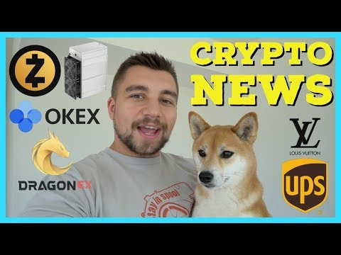 Crypto News | New ZCash Miners | OKEx DEX + IEO(ICO) | Twitch Drops Crypto |UPS + Vuitton Blockchain
