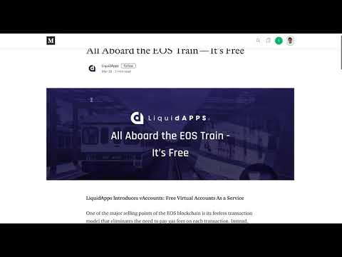 EOS mass adoption unlocked – Free accounts for dApps