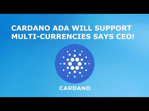 CARDANO ADA WILL SUPPORT MULTI-CURRENCIES SAYS CEO!