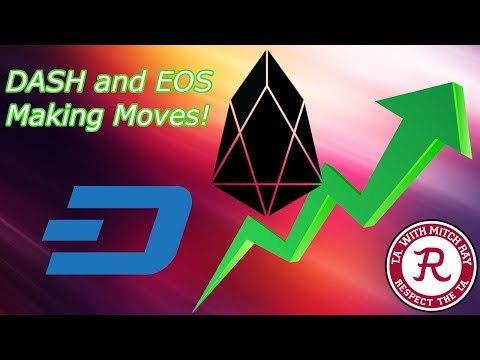 EOS and DASH : Two Altcoins Trading Higher. Crypto Technical Analysis.