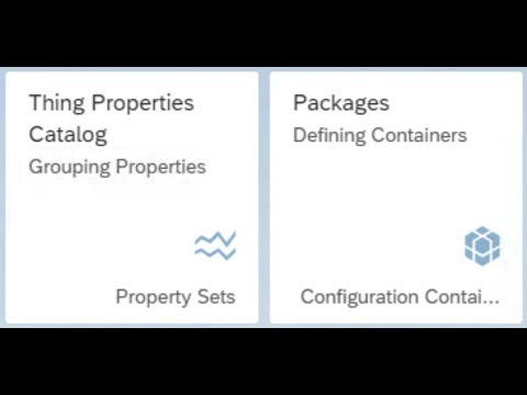 SAP HANA Academy – SAP Leonardo IoT: IoT App Enablement 2of8 : Property Sets