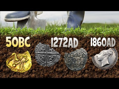 OMG 2000 YEAR OLD GOLD COIN + 800 YEAR OLD SILVER AND MORE Metal Detecting UK Dig | 46