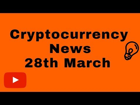 Cryptocurrency News 28.03.19 – Bitcoin IOTA Cardano Stellar Visa USA Market news