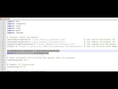 SAP HANA Academy – SAP Leonardo IoT: Python & REST 2of3 : Random Data