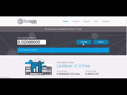 Litecoin mining | Scam or legit With Withdrawl proof. 3WebSites