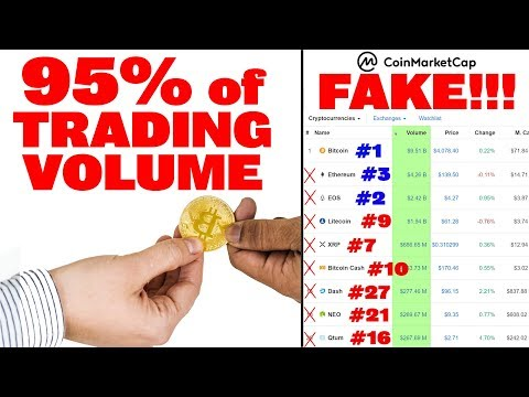 FAKE Trade Volume (95%!) on CoinMarketCap! These are real standings: BTC #1, EOS #2, ETH #3, BNB #4