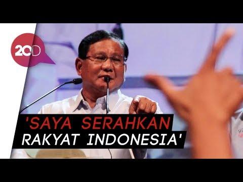 Prabowo: Ada yang Bilang Saya Menang Pilpres, Yang Dilantik Orang Lain