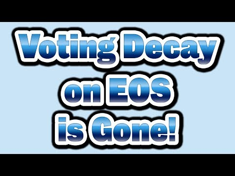 All Voting Decay on EOS is Gone! Anyone can refresh anyone else's votes!
