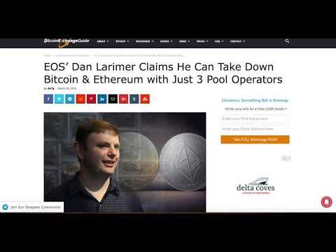 EOS Dan Larimer Takes Down Bitcoin Ethereum Blockchain | Binance Launch Pad, Huboi, Bibox
