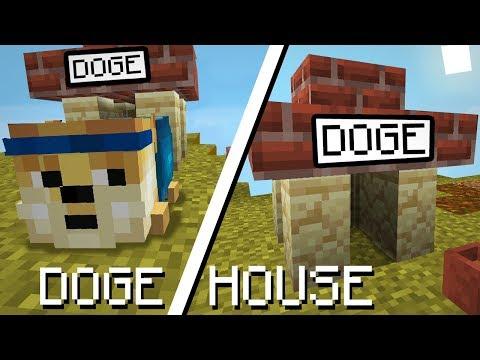 Minecraft 1.14 | How to make a Realistic Dog House (Doge house)