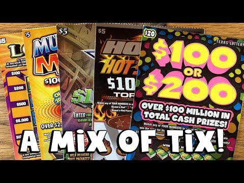 A Mix of Tix! $100 or $200, Cowboys + MORE! ✦ TEXAS LOTTERY Scratch Off Tickets