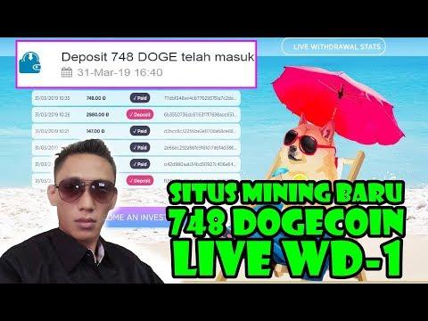 DOGECOIN CLOUD MINING – 748 DOgecoin 100% LEGIT Test WD pertama