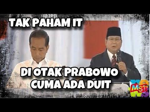 Debat: Prabowo Tak Paham Soal Teknologi Informatika, Di Otaknya Cuma Ada Duit