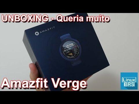 Amazfir Verge – UNBOXING – Queria muito esse smartwatch