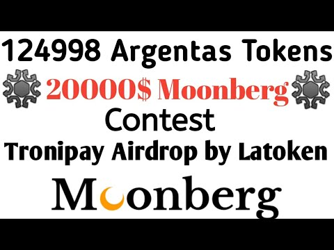 Get 124998 Argentas Tokens Airdrop 20000$ Moonberg Coin Contest and 2 Other airdrops