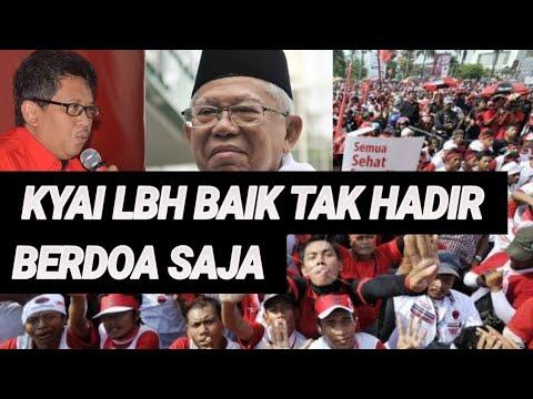 ADA APA?PDIP MINTA KYAI MA'RUF TAK HADIRI KAMPANYE AKBAR DI SENAYAN;PILPRES 2019;PRABOWO SANDIAGA