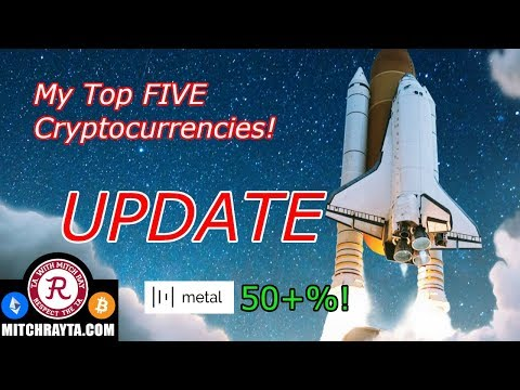 Cryptocurrency : My Top 5 Altcoins UPDATE! XRP MTL and Others. Crypto Technical Analysis