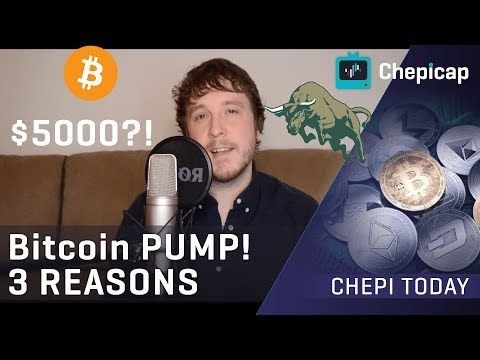 Bitcoin PUMPS! ? 3 possible REASONS! | Cryptocurrency News | Chepicap