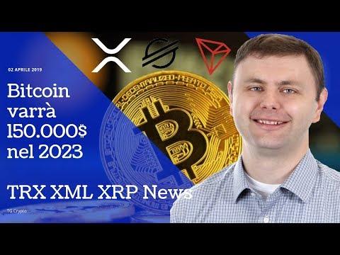 Bitcoin varrà 150.000$ nel 2023 | TRX XML XRP News | TG Crypto