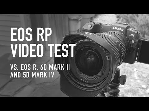 Canon EOS RP Video Test (vs EOS R, 6D Mark ii, and 5D Mark iv)