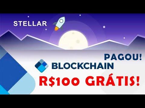 ? Promoção Blockchain Wallet pagou! Corra para receber R$100 em criptomoedas Stellar Lumens grátis!