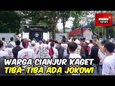 Warga Cianjur Kaget, Tiba-tiba Ada Jokowi Menyapa dari Atas Truk