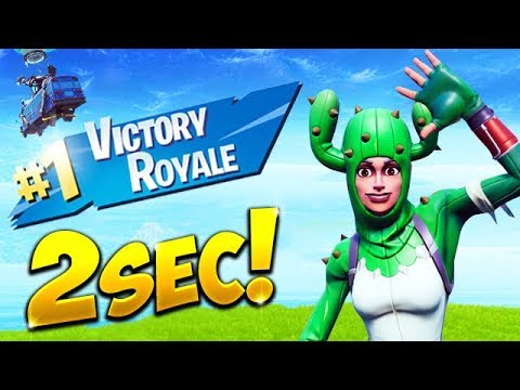 *WORLD RECORD* FASTEST WIN IN 2 SECONDS! – Fortnite Funny Fails and WTF Moments! #519