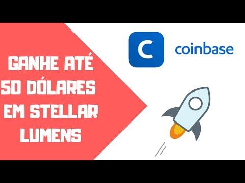 Coinbase pagando até $50 em Stellar Lumens Grátis (XLM)