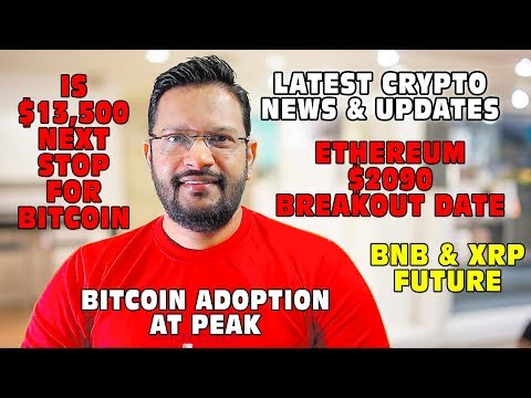 Bitcoin & Cryptocurrency Latest Updates. Can BTC touch $13,500? Can ETH touch $2090. BNB XRP FUTURE.