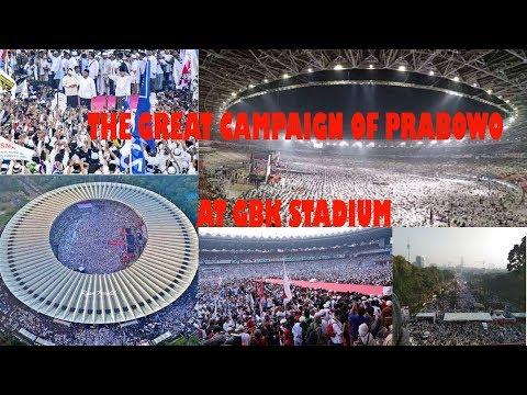 The Great Campaign of Prabowo (Putihkan GBK)..Masya Allah Jutaan Rakyat ada di GBK