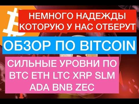 Прогноз по Биткоин, BTC, ETH, LTC, XRP, XLM, ADA, BNB, ZEC на 8 Апреля!