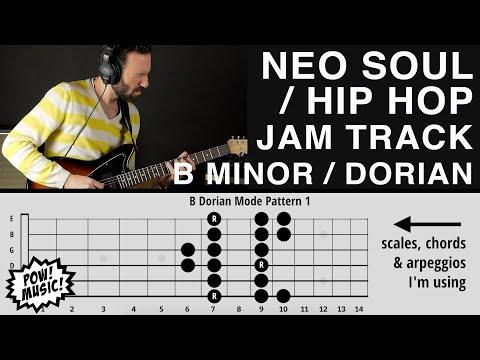Funky Neo-Soul / Hip-Hop / R&B Jam Track – B minor Pentatonic / B Dorian Mode (Backing Play Along)