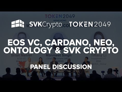 Incredible Panel with EOS VC, Cardano, Neo, Ontology and SVK Crypto at Token2049