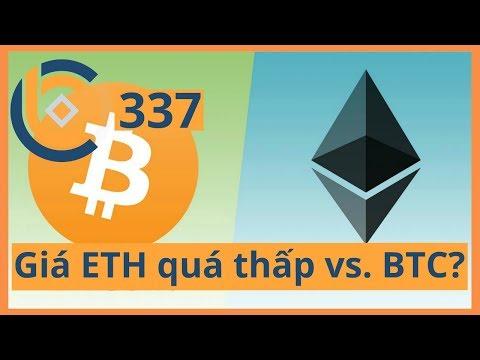 #337 – Giá ETH có thể quá thấp so với BTC?   Cryptocurrency   Tiền Kỹ Thuật Số   Tài Chính