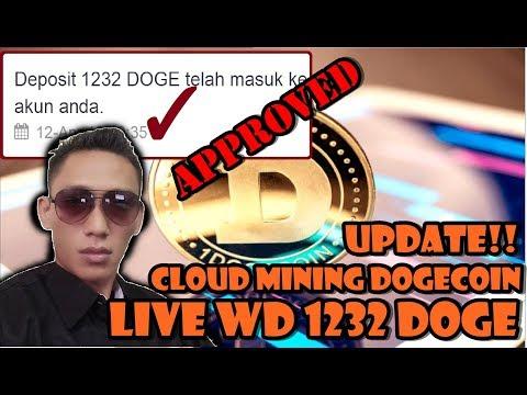 MANTUL!! Live WD 1232 DOGE! cloud mining dogecoin UPDATE!