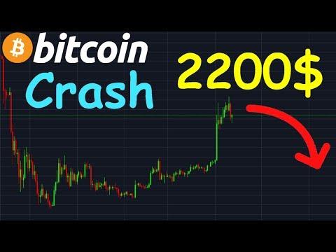 BITCOIN 2200$ CRASH !? btc analyse technique crypto monnaie