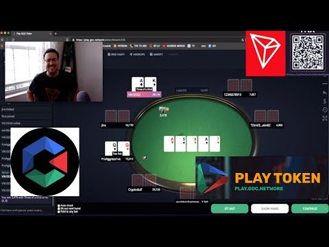 TRON TRX PLAY GOC NETWORK POKER! ROUND 2 WITH TONE! TEXAS HOLD'EM BLACKJACK & MORE!