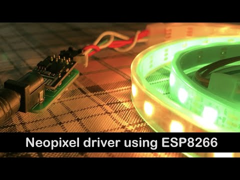 Smallest & Wireless Neopixel Driver using ESP8266 01 Module | ESP8266 Projects | IoT Projects