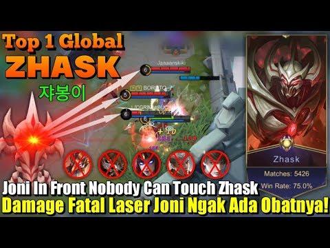 Nobody Can Touch Me | Damage Fatal Laser Joninya Zhask Ngak Ada Obat!!! – Top 1 Global Zhask 쟈봉이