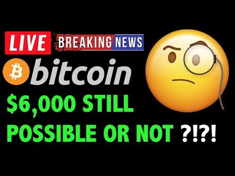 Bitcoin Price IS $6000 STILL POSSIBLE?! -LIVE Crypto Trading Analysis & BTC Cryptocurrency News 2019