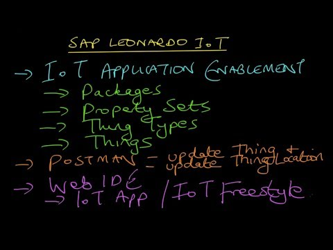 SAP HANA Academy – SAP Leonardo IoT Application Enablement : Overview
